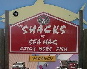 sea hag shacks sign